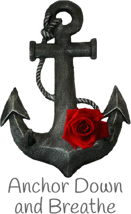 image of an anchor and red rose